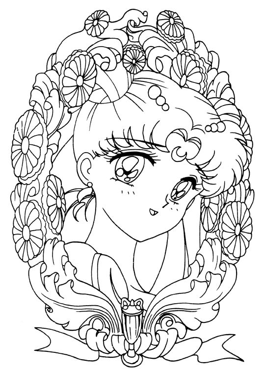 Princess Serenity Coloring Page // #sailormoon | Sailor Moon ...
