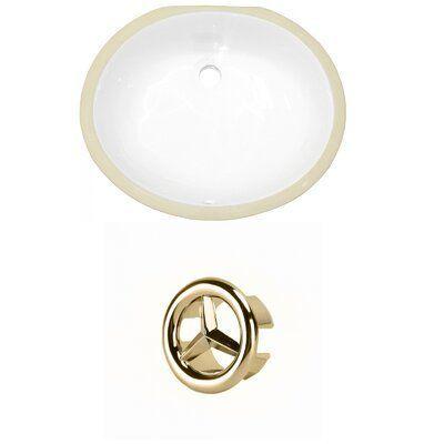 Avanities Ceramic Oval Undermount Bathroom Sink and Overflow  Wayfairavanities