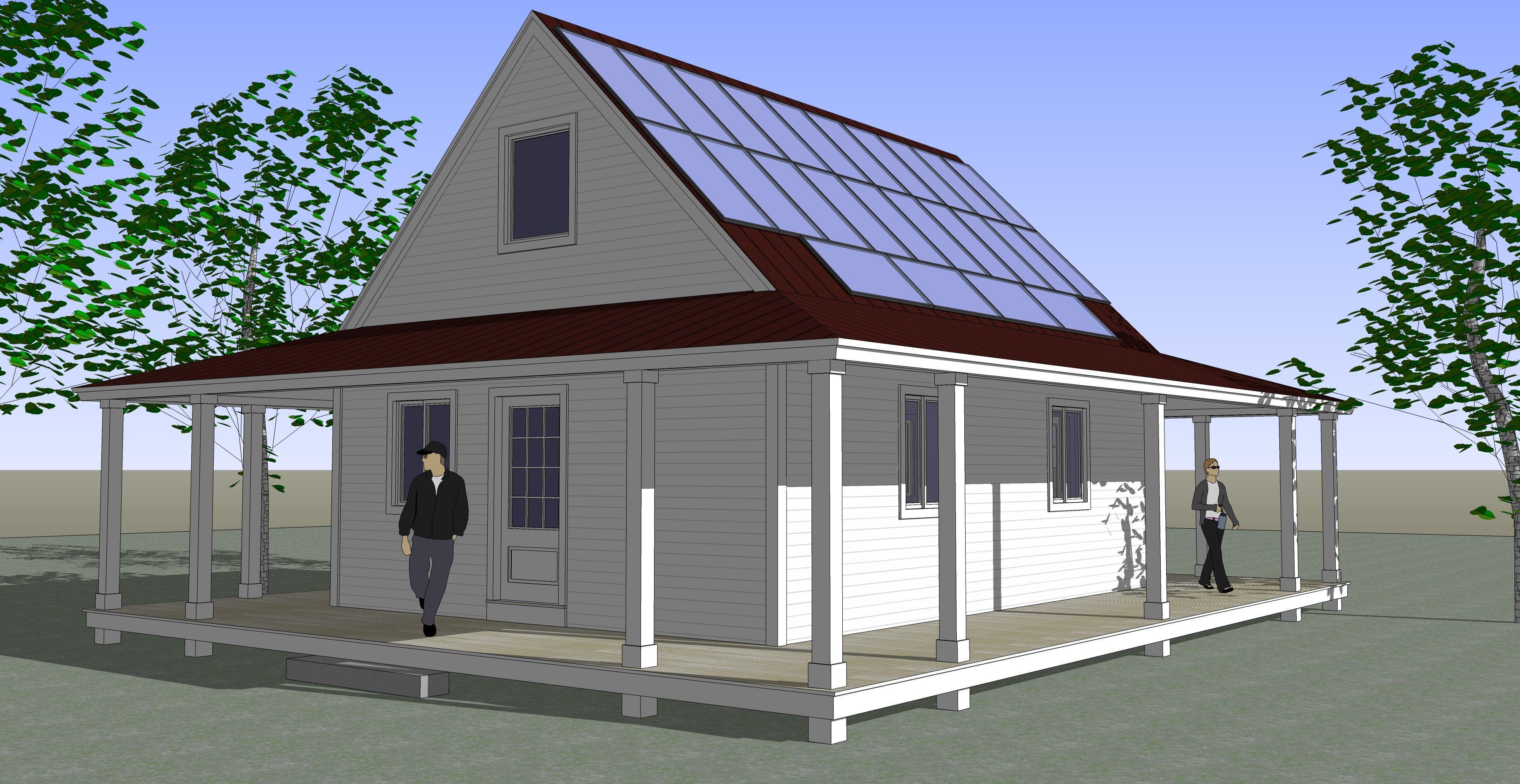 Net Zero Energy House In A Kit Kit Homes Home Building Kits Small House Kits
