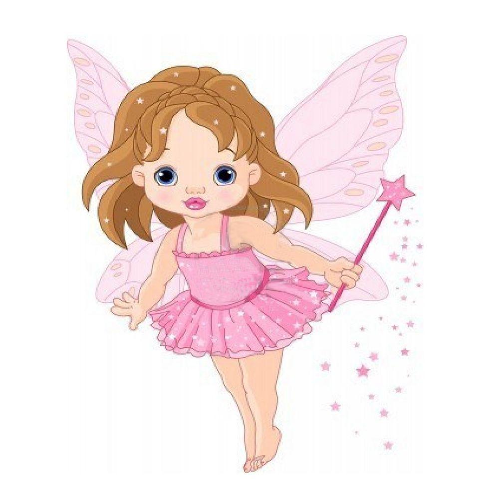 Baby Girl Fairy Magic Wand Star Dust Ballet Tulle Pillow Cushion Cover 2 Sided Handmade Artdecostyle Fairy Cartoon Baby Fairy Fairy Drawings