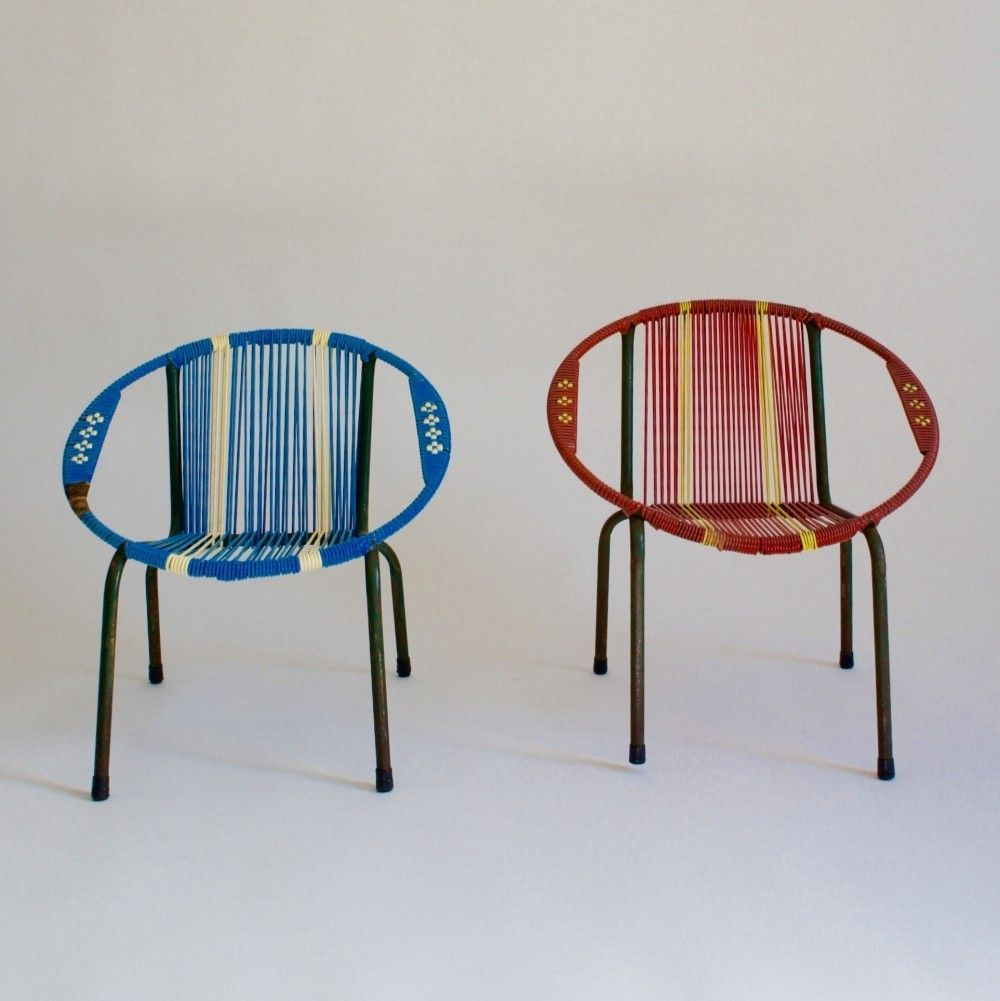 Red & Blue Childrens Bucket Chairs, 1960s | Various Vintage Design ...