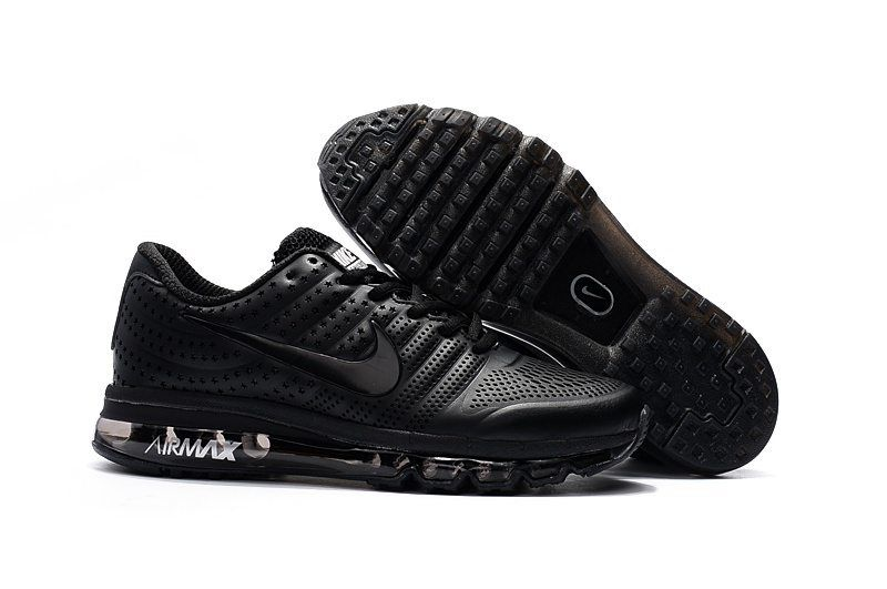 size 40 43008 4dffe Nike Air Max Men 2017 All Black Leather