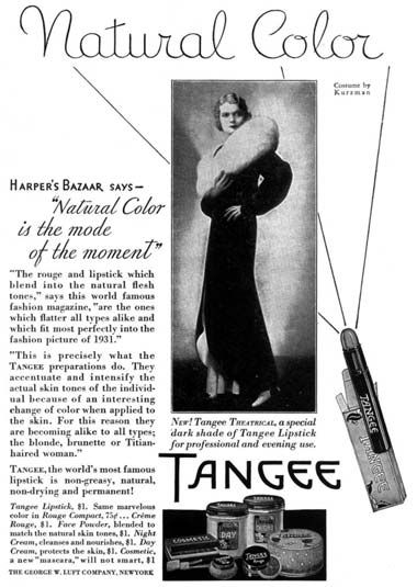 1930 Tangee  In 50's and 60's, I used and loved Tangee!