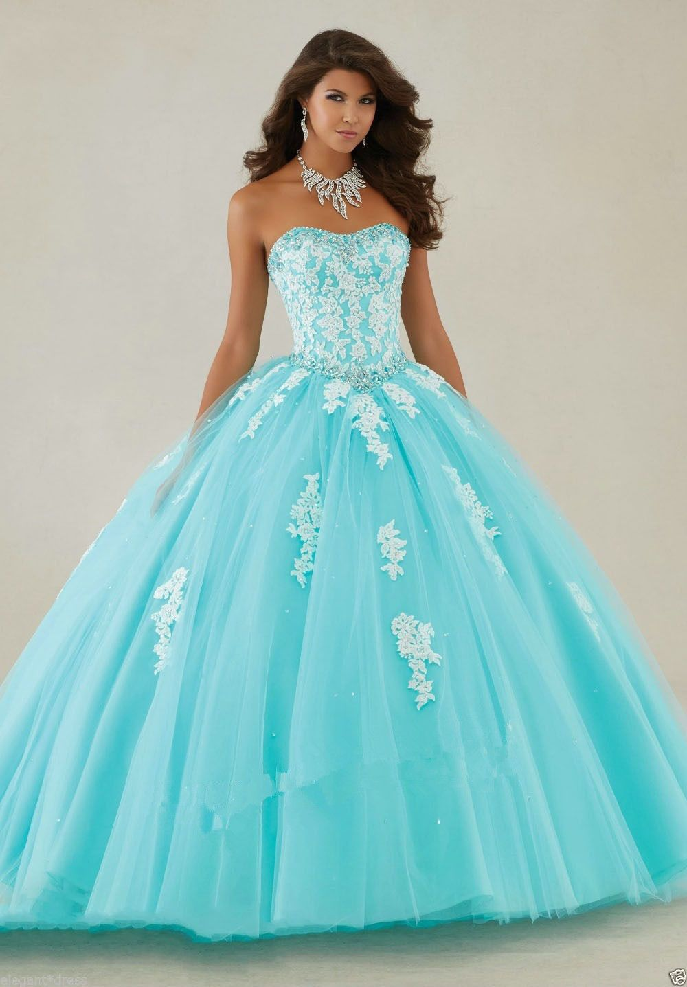 New applique Ball Gown Formal Quinceanera Prom Pageant Party Wedding ...