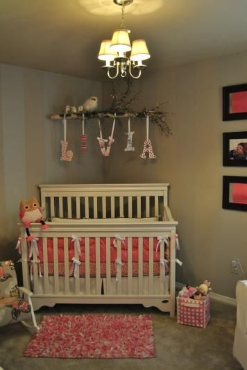 Baby Girl Bedroom Ideas Camo corner crib could add monkeys and palm leaves to the branch