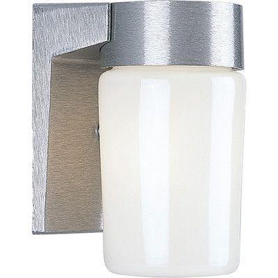 Progress Lighting 1 Light Outdoor Sconce Finish: Satin Aluminum
