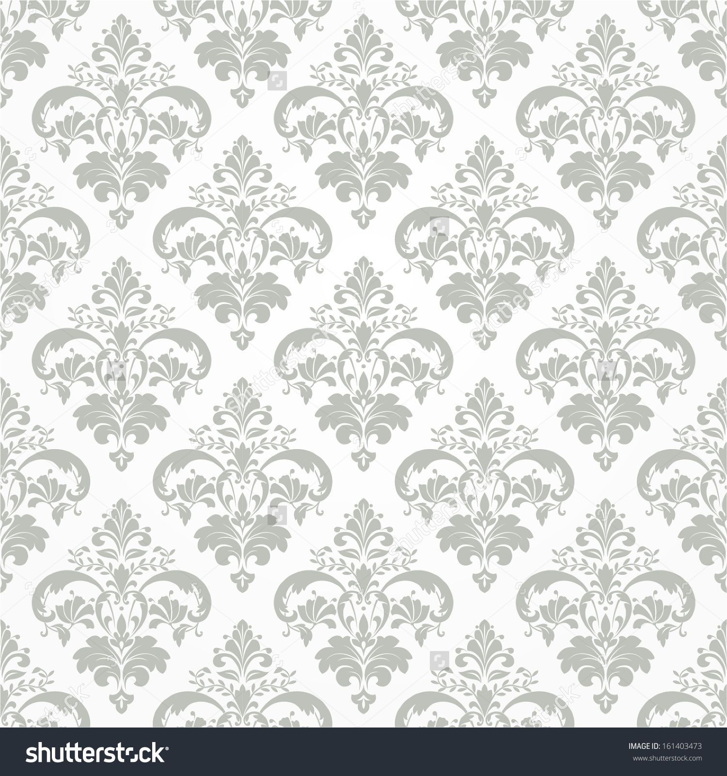 Wallpaper Style Baroque Seamless Vector Background Stock
