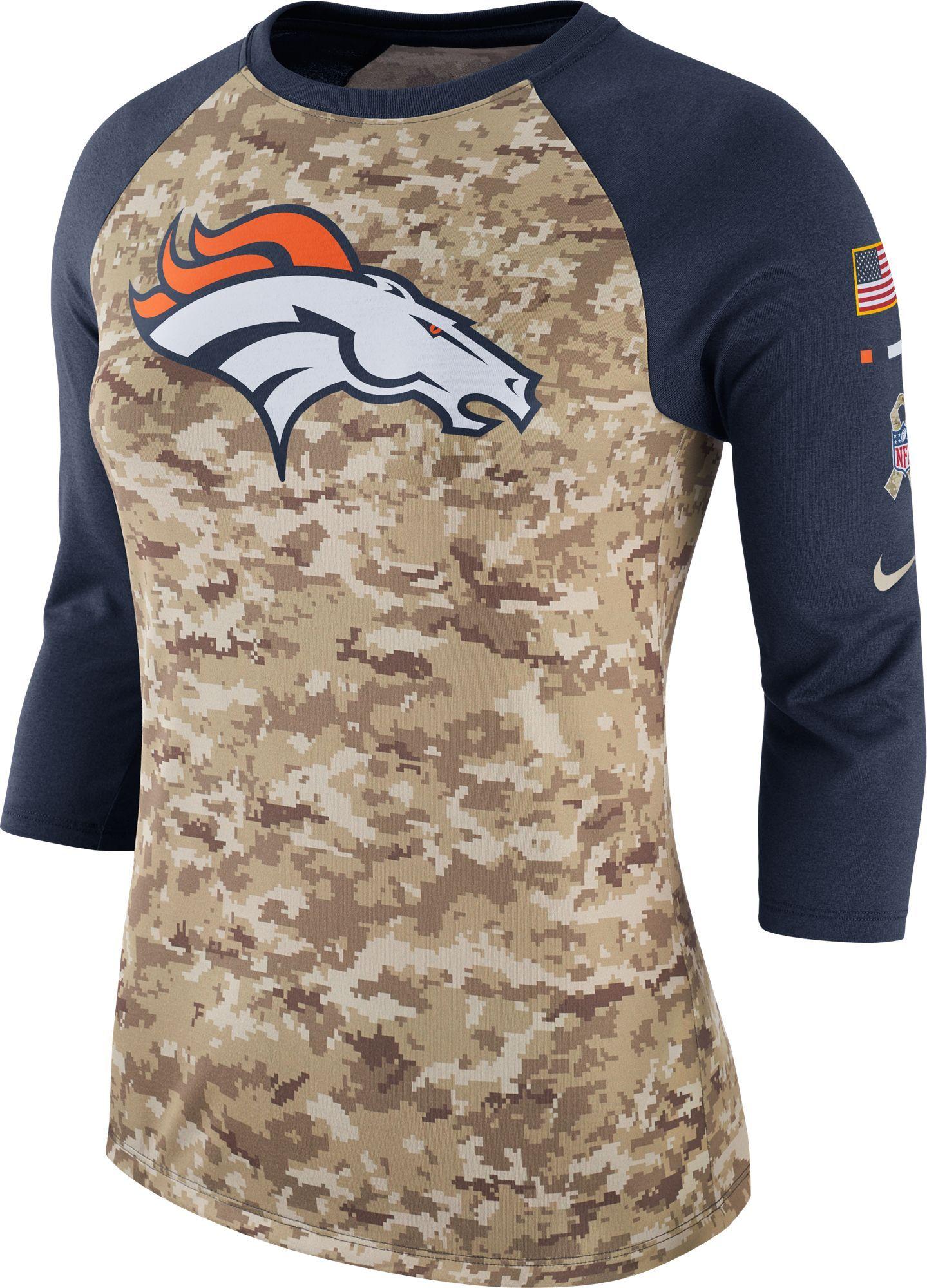 3dd42b48b Nike Women s Denver Salute to Service 2017 Camouflage Raglan