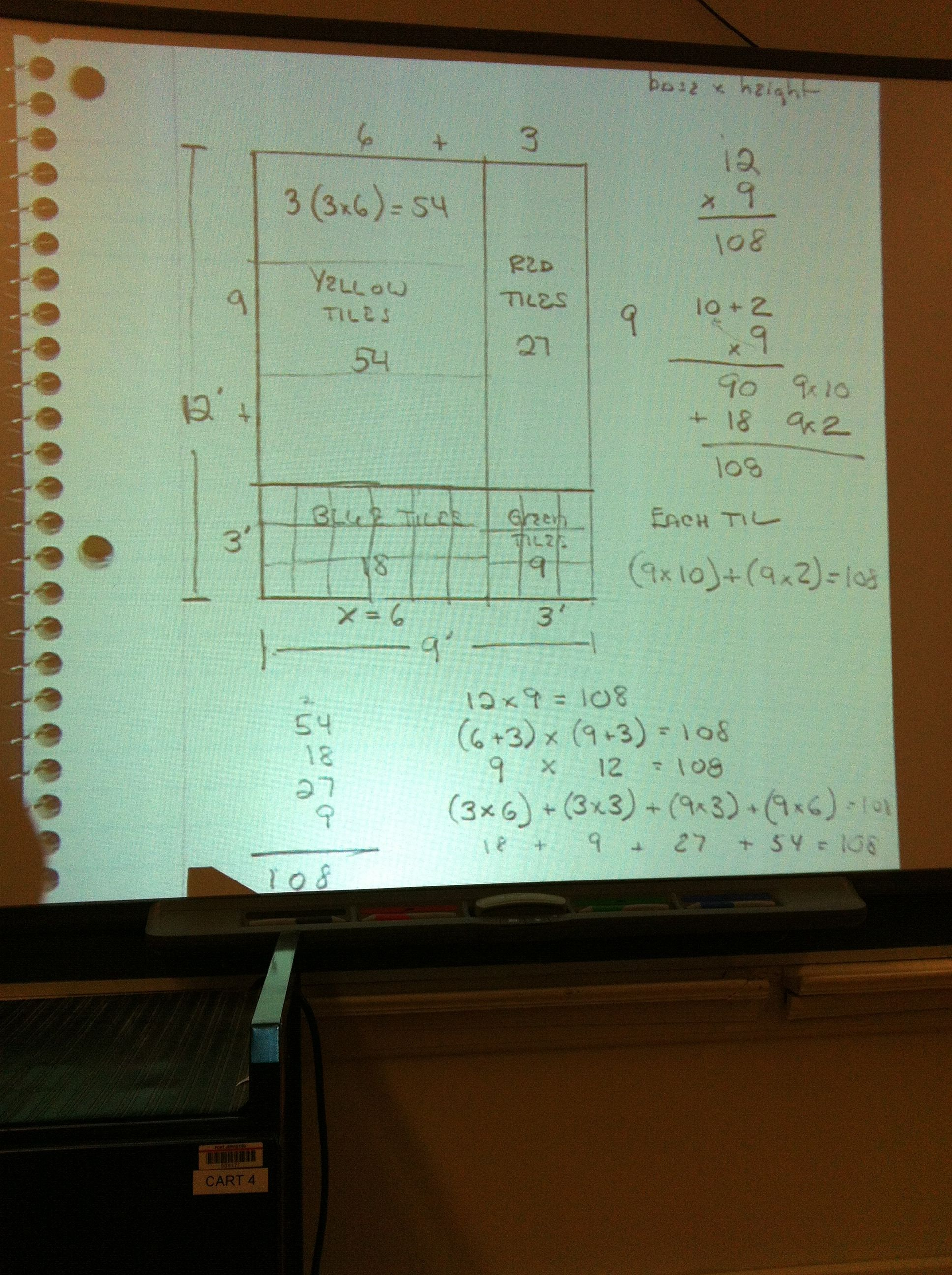 Area Model Math With Multiplication And Distributive