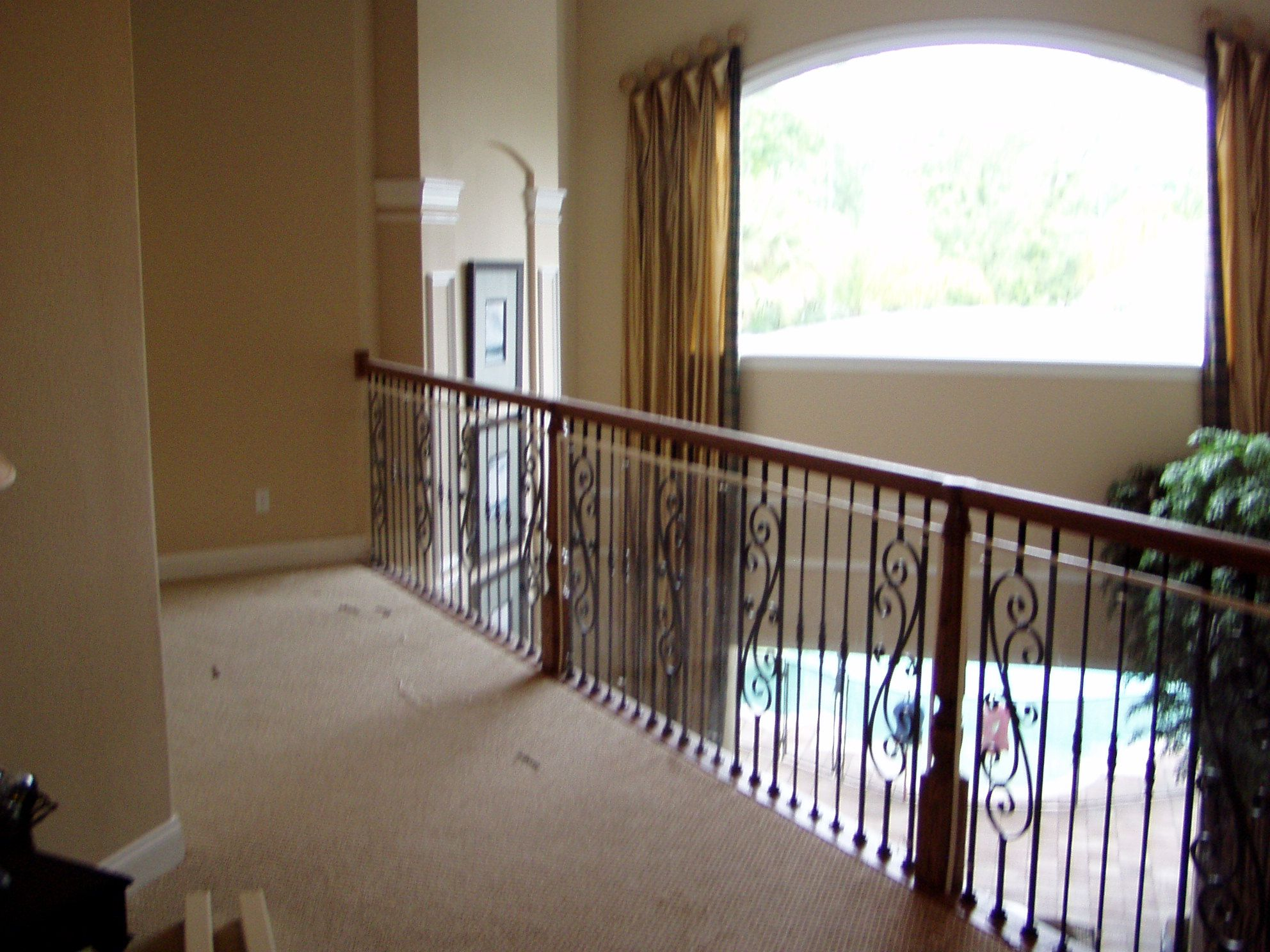 Banister Safety, Before Safety Wall French doors, Baby