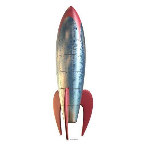 Raket Retro Levensgrote Kartonnen Uitsnede