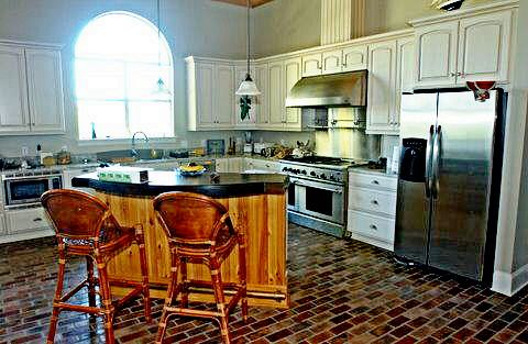 Kitchens With Brick Floors - Flooring Ideas and Inspiration