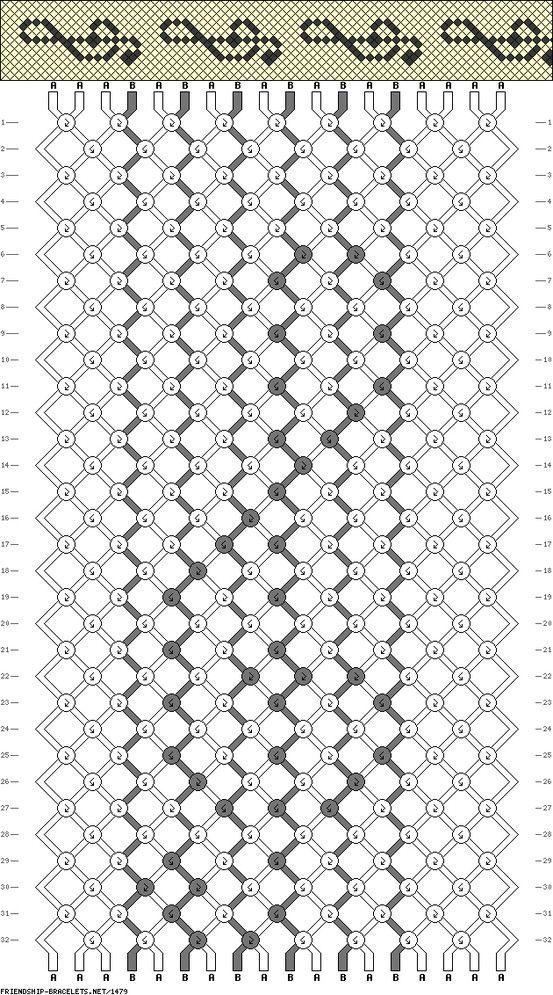 friendship bracelet pattern | Crafts! | Pinterest | Macramé ...