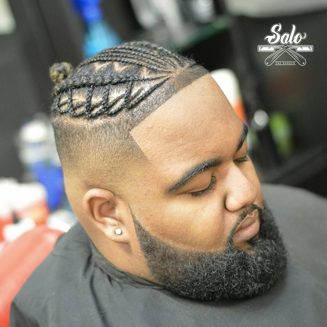 black men braids with beard | black men beard styles | pinterest