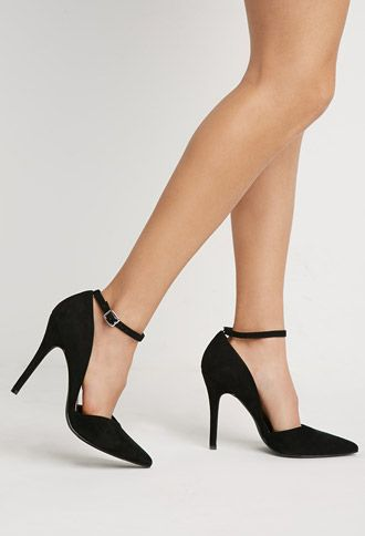 Forever 21 Black Sneaker Style Pointy Heel Pumps Boots
