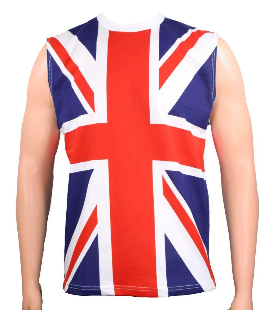 31a4dd20 80's Union Jack DEF LEPPARD UK Flag Sleeveless Heavy Metal Shirt Tank Top # UK #BasicTee
