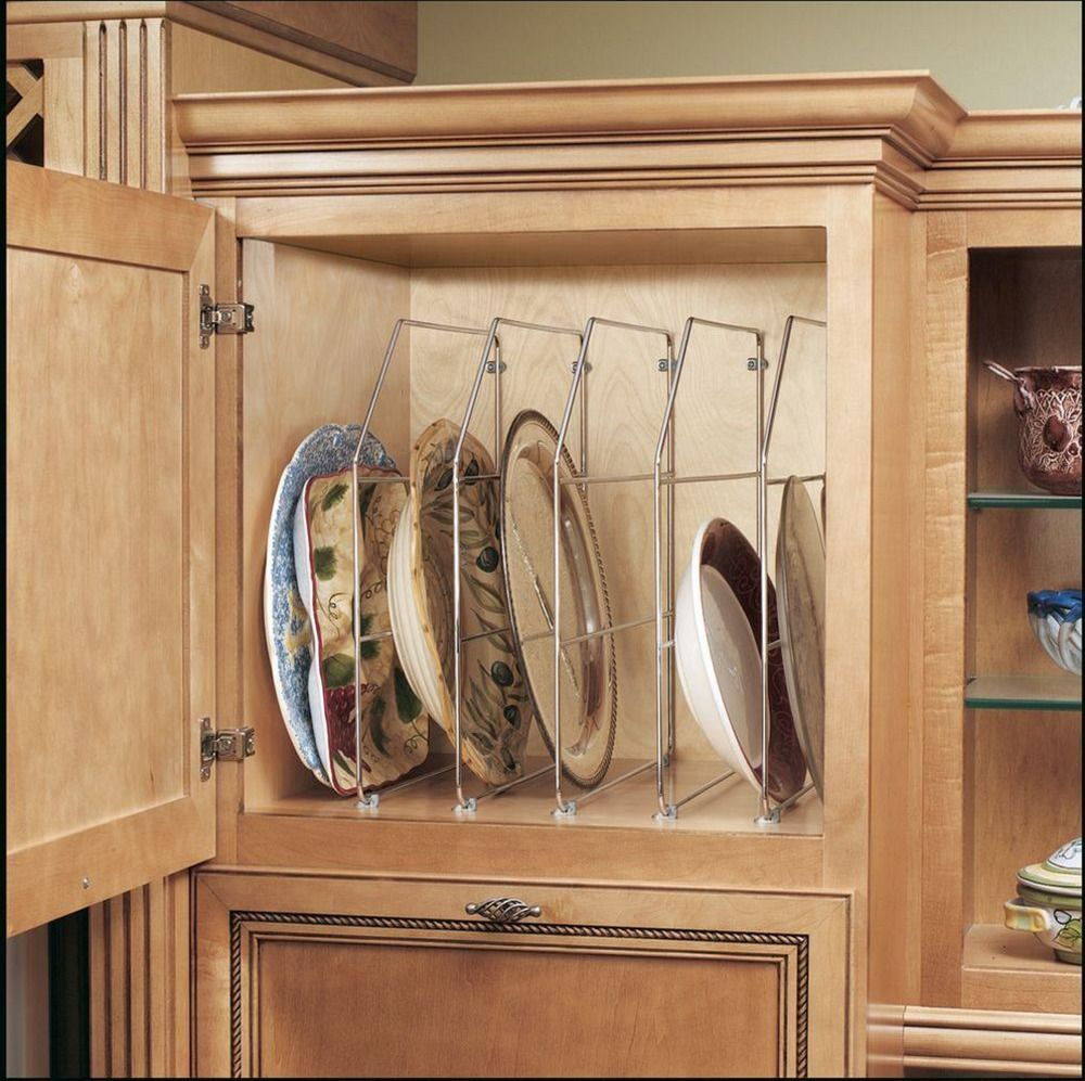 Single chrome bakeware and tray divider kitchen cabinet storage