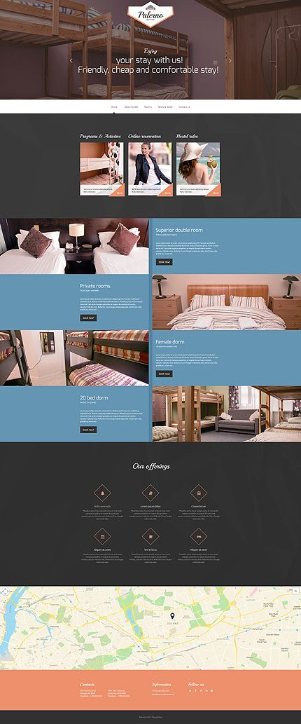 Premium Boutique Hotel #website #template. #themes #business ...