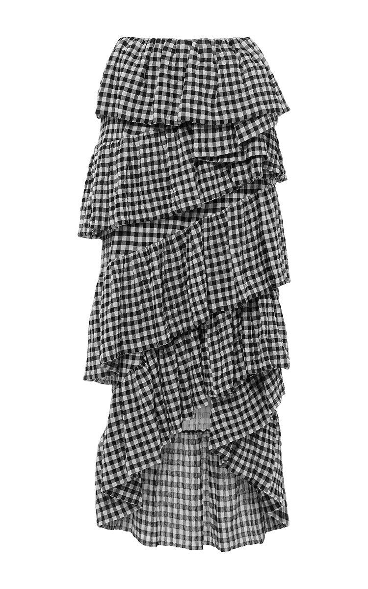Tiered Ruffled Skirt by ISA ARFEN Now Available on Moda Operandi