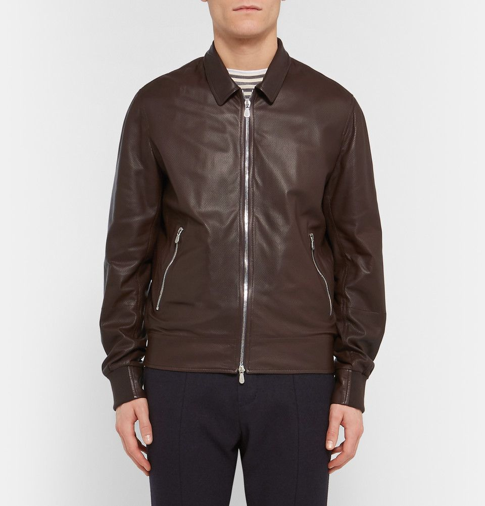 Brunello Cucinelli Perforated Leather Bomber Jacket Jackets Bomber Jacket Leather Bomber Jacket [ 1002 x 960 Pixel ]