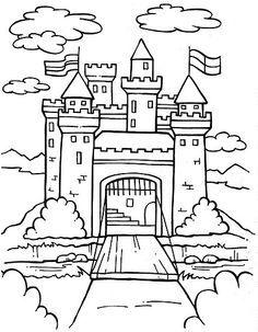 Castle Front Coloring Pages Google Search Castillos Dibujos Paginas Para Colorear Castillo Para Colorear