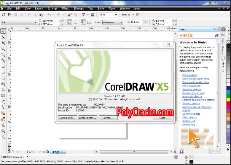 CorelDRAW Graphics Suite X5 Keygen Coreldraw, Simple