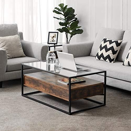Industrial Glass Iron Coffee Table With Free Shipping Living Room Coffee Table Living Room Table Sets Living Room Table Living room table for sale