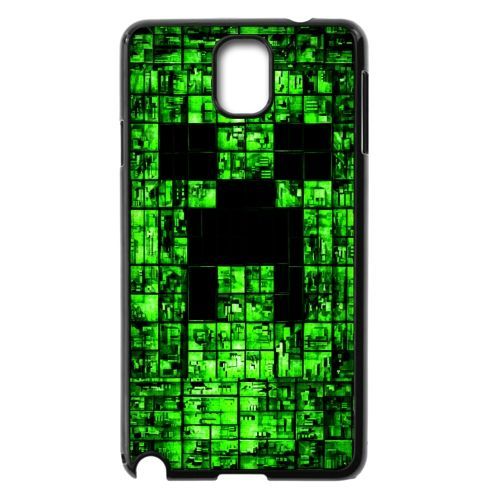Custom BlADk Shell Phone Case Samsung Galaxy Note 3 N9000 Cases Minecraft Game BADkground Personalized Design