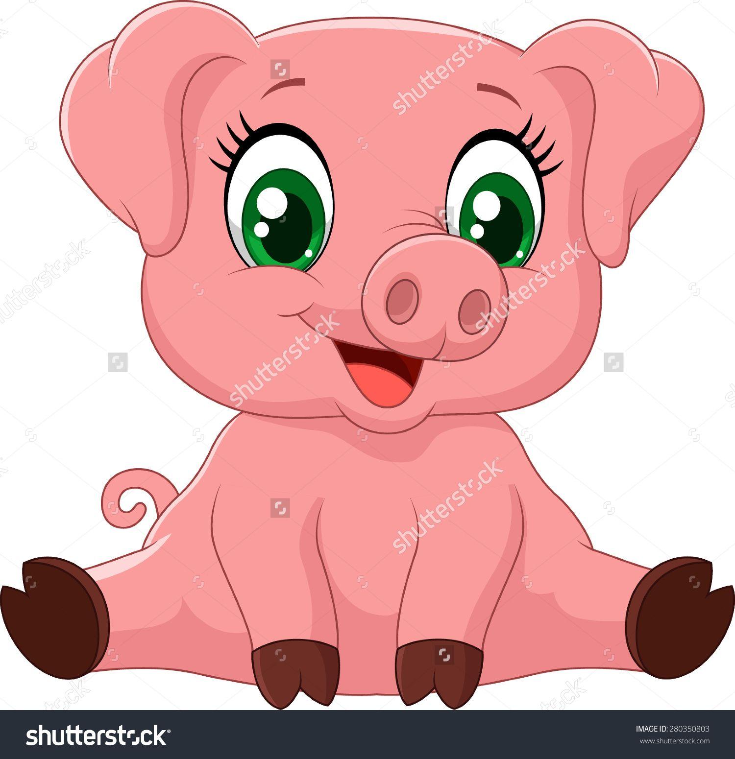 stock-vector-cartoon-adorable-baby-pig-illustration-280350803.jpg ...