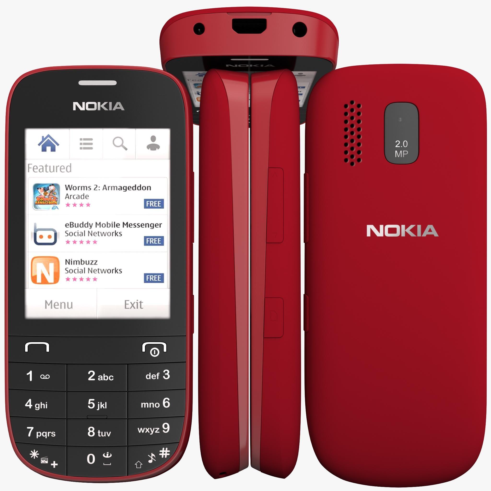 Nokia Asha 203 3D Model #AD ,#Asha#Nokia#Model