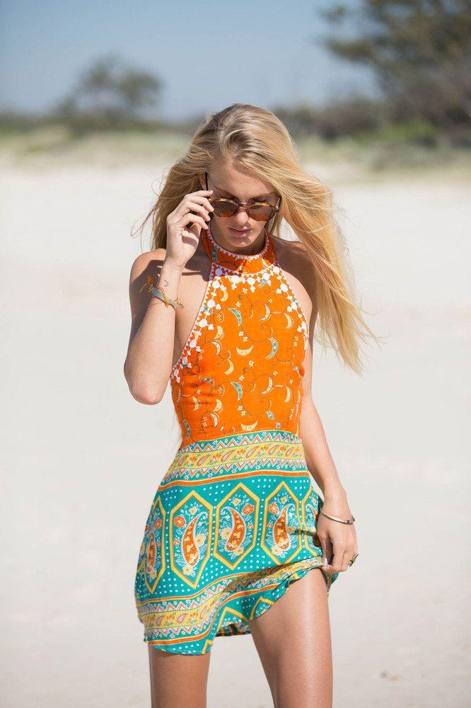 (http://www.arnhem.co/drifter-mini-dress-saraswati/) The most perfect summer dress