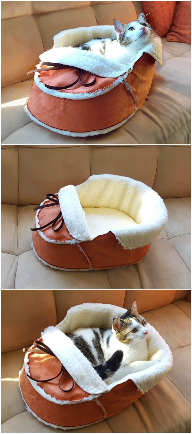 Sherpa Moccasin Cat And Dog Bed Dog bed, Large breed dog