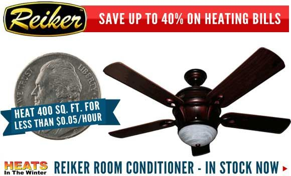 The reiker room conditioner is a ceiling fan with a built in heater the reiker room conditioner is a ceiling fan with a built in heater heats very efficiently swiss gold model on sale for 299 aloadofball Choice Image