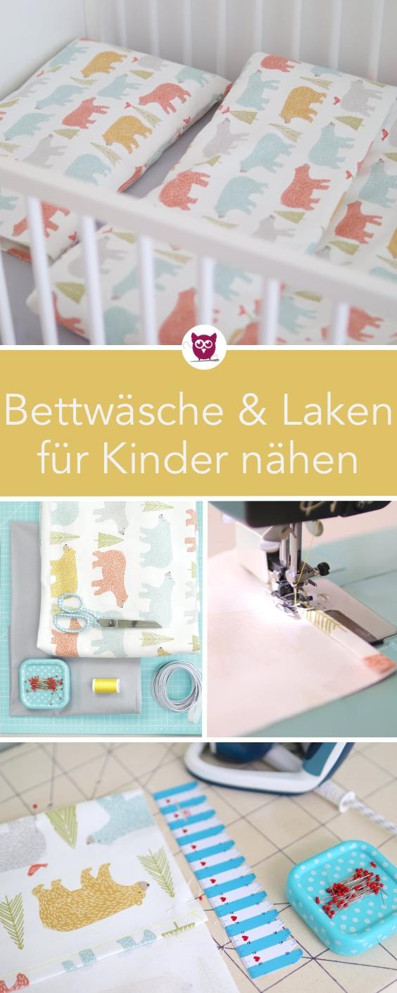 [Werbung] Bettwäsche für Kinder nähen und Spannbettlaken nähen mit Schritt f…