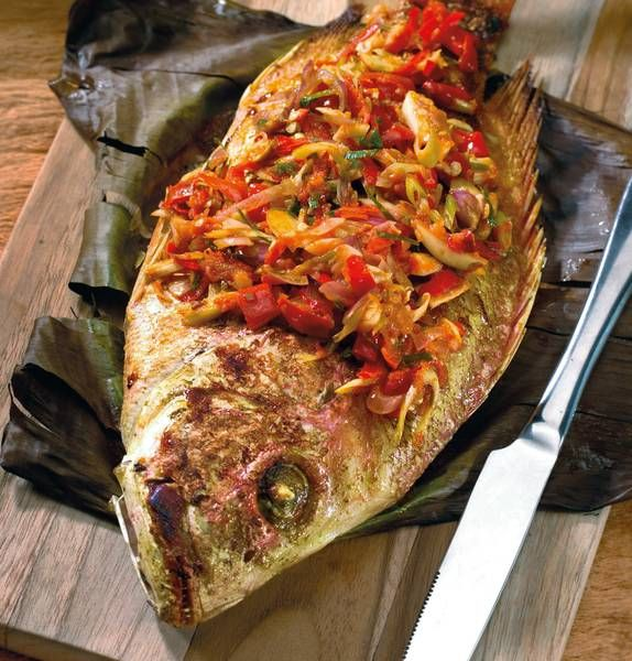 Resep Masakan Ikan Kakap Dengan Campuran Rempah Rempah Lezat Yang Nikmat Resep Makanan Makanan Resep Ikan