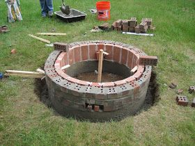 Day Two Of Our Diy Brick Fire Pit Project Including Brickortar