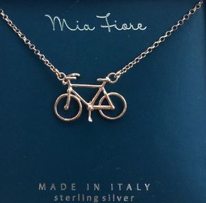 Mia Fiore Rose Gold Plated Bicycle Necklace NEW IN BOX Bicycle