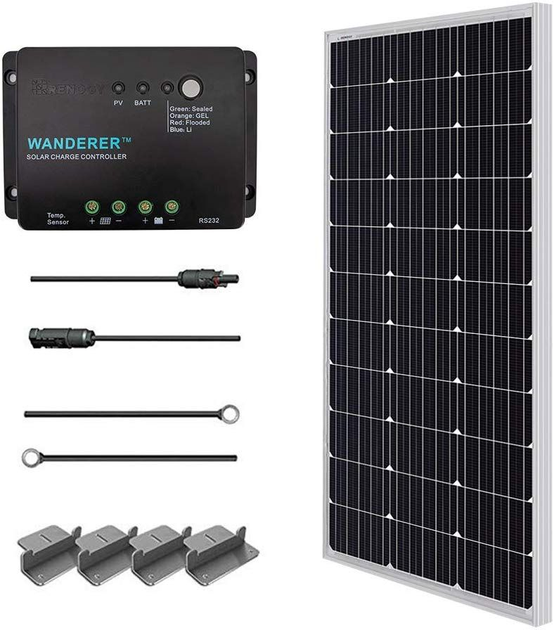 Renogy 100 Watts 12 Volts Monocrystalline Solar Starter Kit Click Image To Review More Details This Is An Affil Solar Inverter Solar Kit Solar Panel Kits