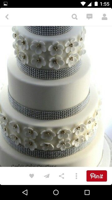 Wedding Cake With A Little Bling