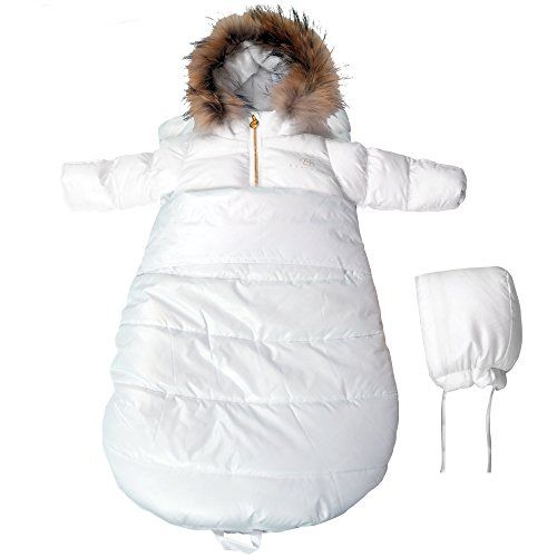 f301a3be4 BEBEBON Newborn Baby Bunting Snowsuit and Stroller Winter Thermal Sack Set  White ** Check this awesome product by going to the link at the image.