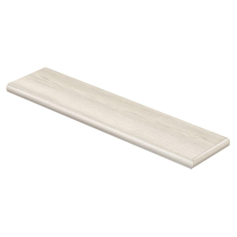 Cap A Tread Coventry Oak 47 in. Length x 12-1/8 in. Depth x 1-11/16 in. Height Vinyl Right Return-016173576 at The Home Depot