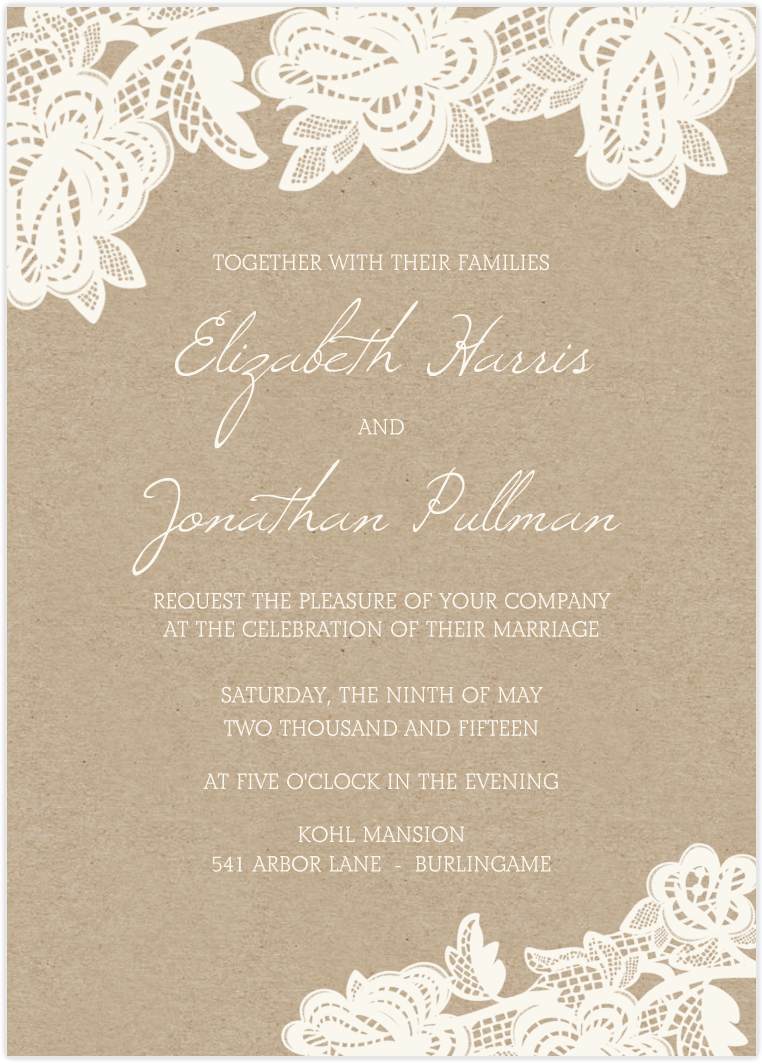 17 Best images about Backgrounds Templates – Lace for Wedding Invitations