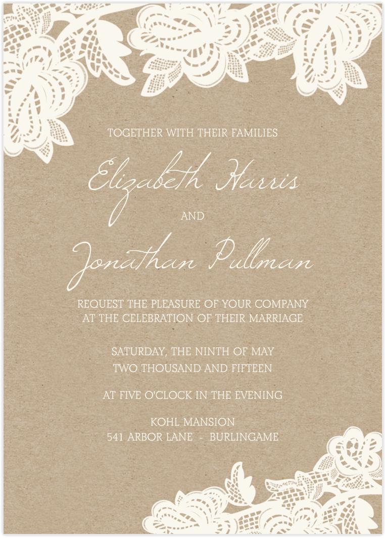 Lace Wedding Invitations | 21st - Bridal World - Wedding Ideas and ...