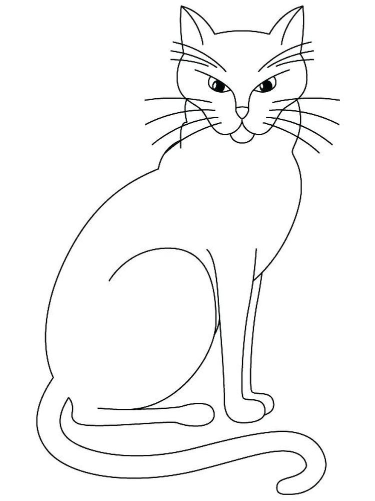 Siamese Kitten (With images)   Cat coloring page, Animal ...