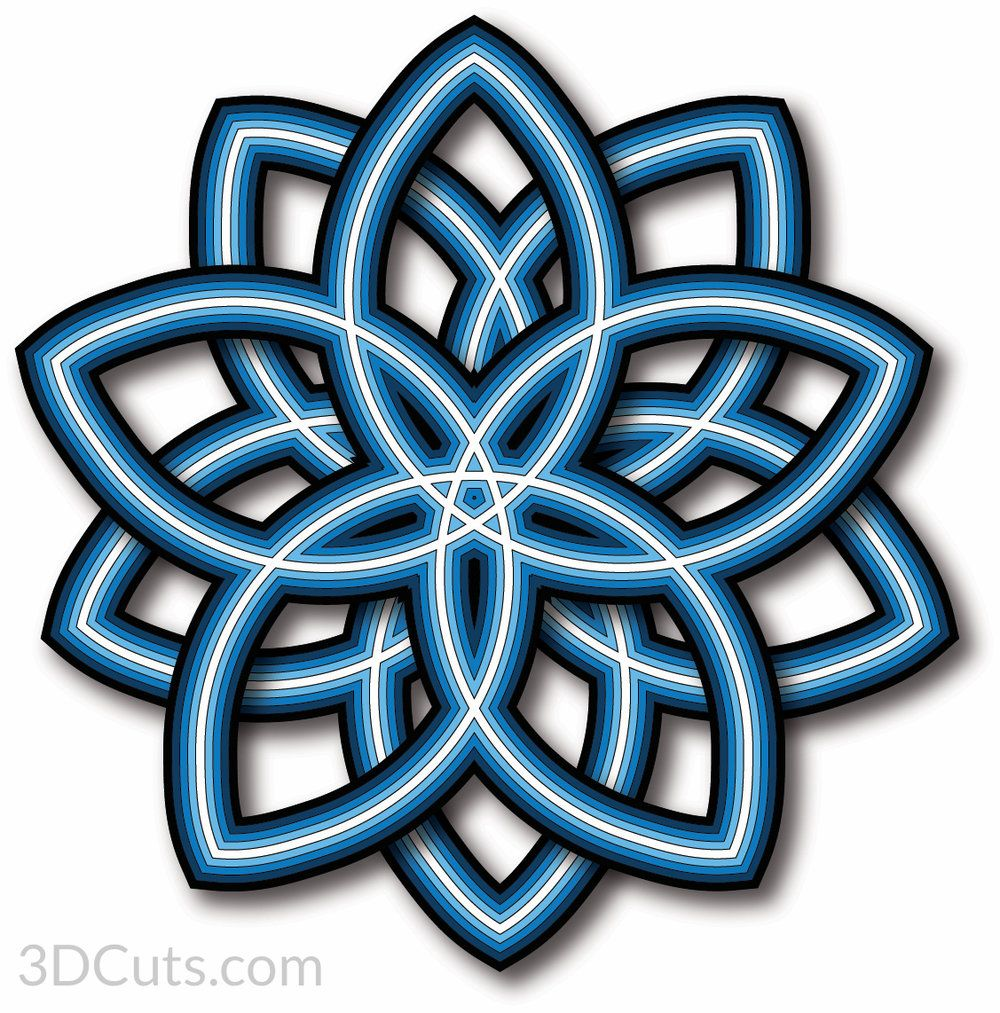 Download Layered Mandala V1 Leaf Ellipse | Mandala, Mandala design ...