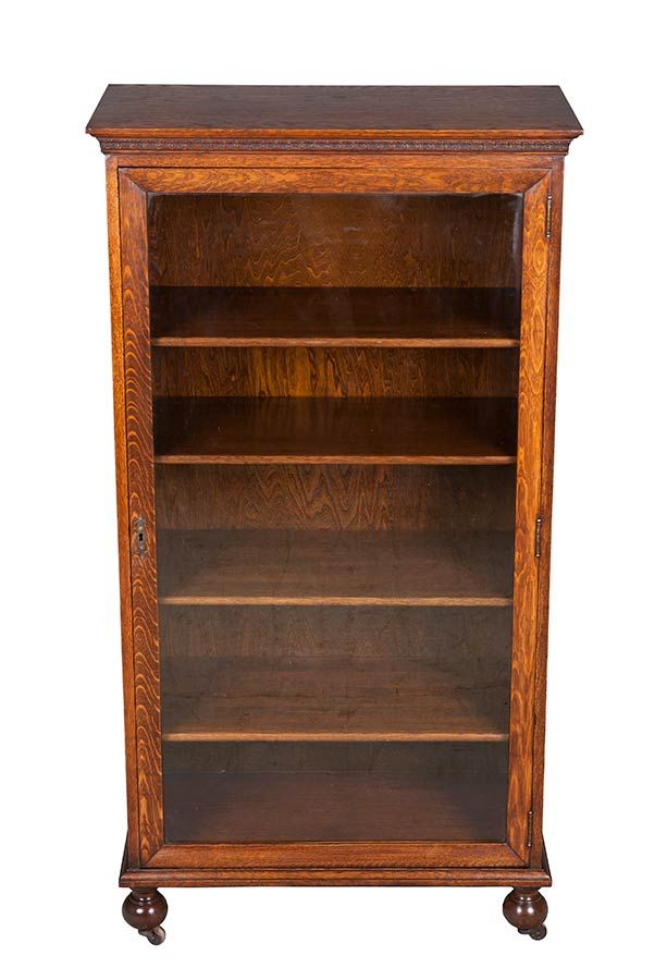 Antique Bookcase With Glass Door Antique Bookcase Glass Doors And