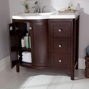 Home Decorators Collection Madeline 36 In Vanity In Chestnut With