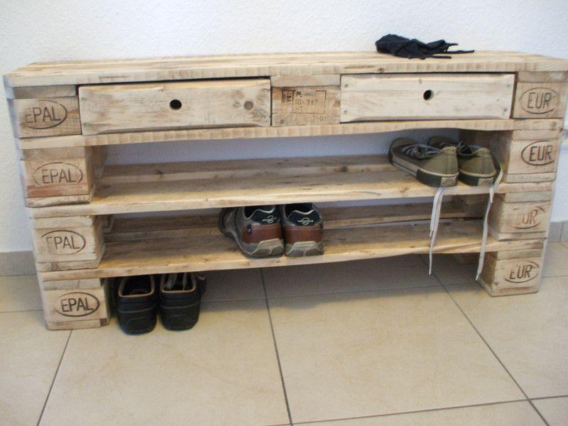 Schuhschränke Design schuhregal groß fullen aus paletten schubladen