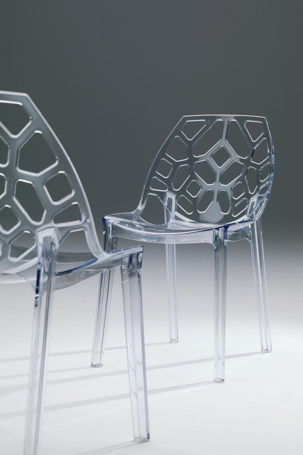 Lightweight stackable chairs - Spider Is A Lightweight Stackable Chair In Molded Recyclable Polycarbonate Designed By Erresse Studio For