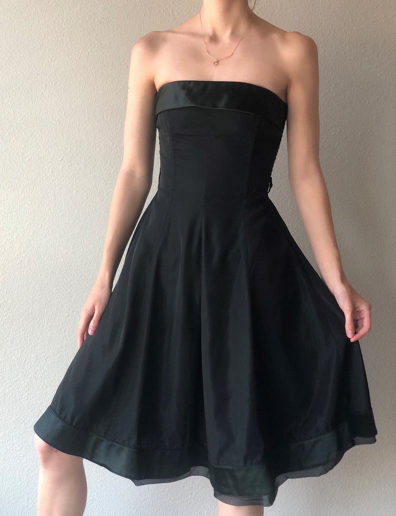Vintage Dolce Gabbana Sleeveless Little Black Dress Silk Etsy Dresses Little Black Dress Strapless Dress Formal [ 1034 x 794 Pixel ]